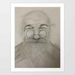 Happy Grandpa Art Print