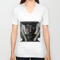 will graham V-neck T-shirts featuring Graham by Frank Odlaws