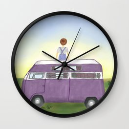 Summer bus Wall Clock