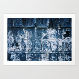 Wall Relief No. 7 in Chichen Itza, Mexico (2004) Art Print