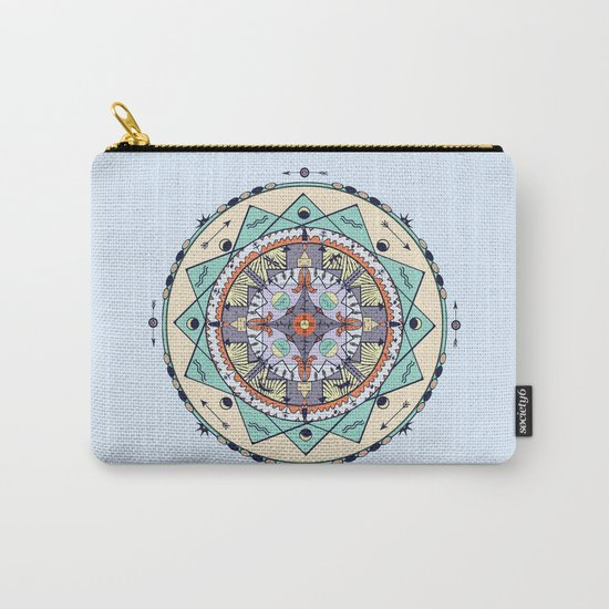 Time and Light Native Shapes Mandala Carry-All Pouch