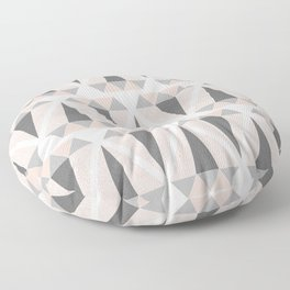 Geometric Diamond in Pink and Gray Floor Pillow