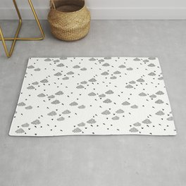 Birds and clouds Rug