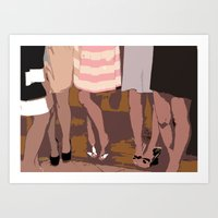 legs Art Prints featuring legs by yayanastasia
