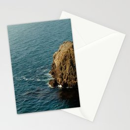 rock, ocean, horizon, channel islands, oxnard, united states Stationery Cards