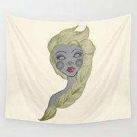 elsa Wall Tapestries featuring Elsa by Bittersweet