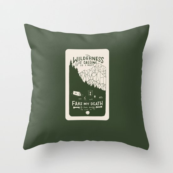 The Wilderness is Calling Throw Pillow
