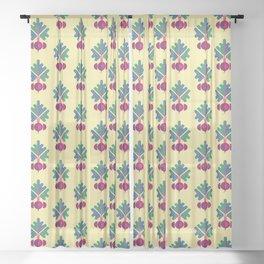 Vegetable: Beetroot Sheer Curtain