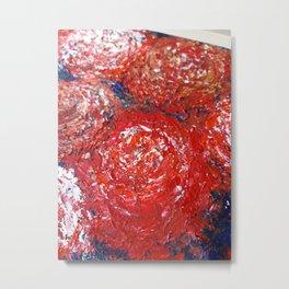 Las peonias de Las Nieves, Red Peonies Metal Print