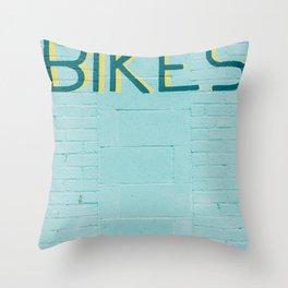 Bikes Throw Pillow