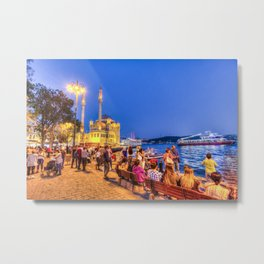 Istanbul At Night Metal Print