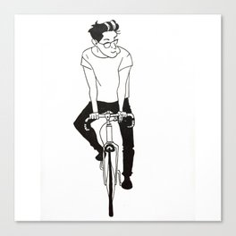 Dad on a bike Canvas Print