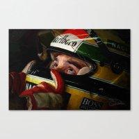 senna Canvas Prints featuring Senna by Charley Pallos