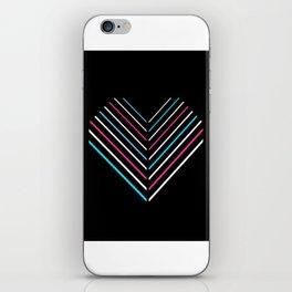 Transcend Neon Heart iPhone Skin