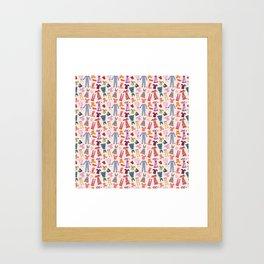 Dress Papercut Pattern - baby Yellow Framed Art Print