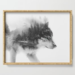 Wolf Stalking Serving Tray