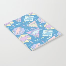 Nineties Dinosaurs Pattern  - Pastel version Notebook