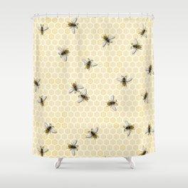 Honey a Bee Farm! Shower Curtain