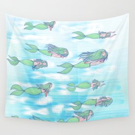 Mermaids dream by day Wall Tapestry