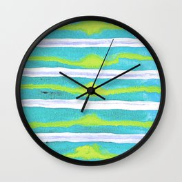 Stripes In The Water Wall Clock