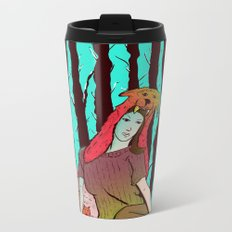 A women's among wolves Metal Travel Mug