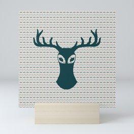 A Moose For Christmas Mini Art Print