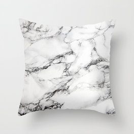 Greyish White Marble Throw Pillow