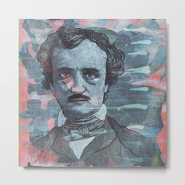 Poe - Deep Into That Darkness Metal Print