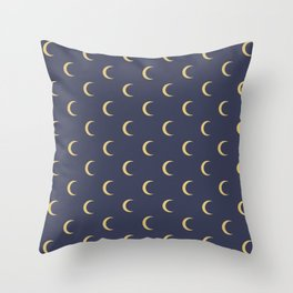 Crescent Moon Sky Pattern Throw Pillow