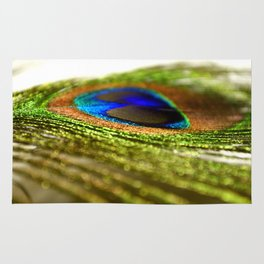 Shimmering Peacock Rug