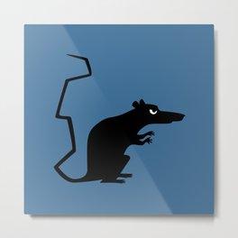 Angry Animals - Rat Metal Print