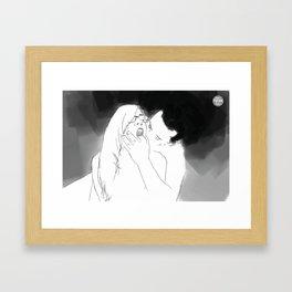 I'M HERE Framed Art Print