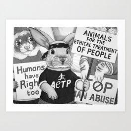 Human Rights Demonstration Art Print
