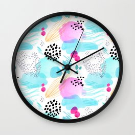 Abstract Watercolor by Minikuosi Wall Clock