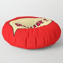 Rawr speech bubble Floor Pillow