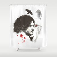snow Shower Curtains featuring Snow by Danny Haas