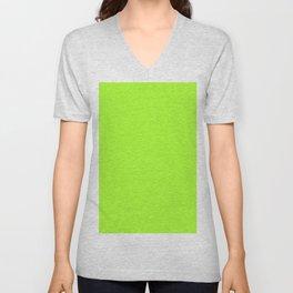 Chartreuse Unisex V-Neck