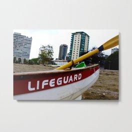 Save Me - English Bay Lifeguard Post Metal Print