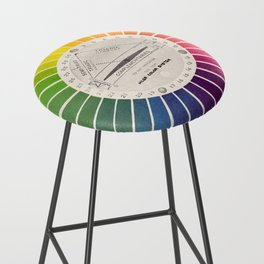 Vintage Color Wheel - Art Teaching Tool - Rainbow Mood Chart Bar Stool