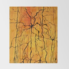 Neural Activity (An Ode to Cajal) Throw Blanket