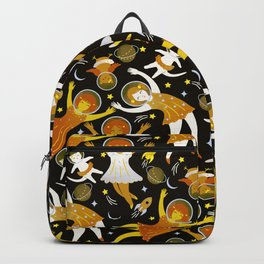 Girls in space - golden Backpack