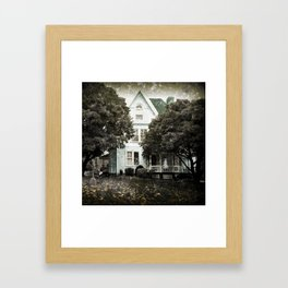 Haunted Hauntings Series - House Number 3 Framed Art Print