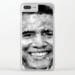 BARACK OBAMA (BLACK & WHITE VERSION) Clear iPhone Case