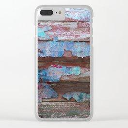 Peeling Paint Clear iPhone Case