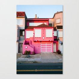 Pink House // San Francisco Canvas Print