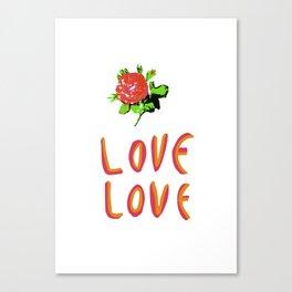love love Canvas Print