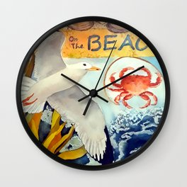 On The Beach Wall Clock