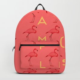 Flamingos #4 Backpack
