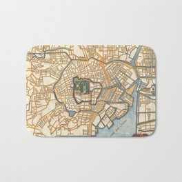 Vintage Map of Tokyo Japan (1752) Bath Mat