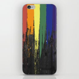 Rainbow Paint iPhone Skin